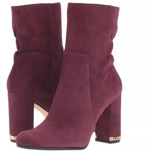 """MK genuine suede """"Dolores"""" Chain leather booties"""